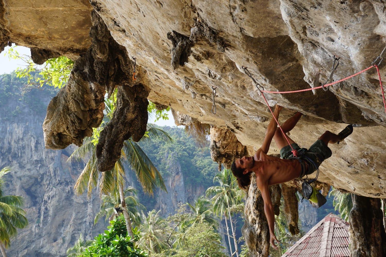 Juan on Jamaica's first potential 8a rock climb