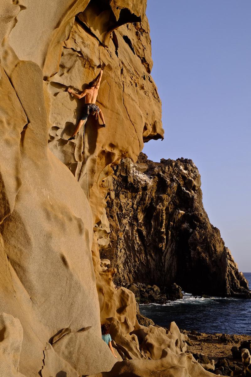 The incredible rock formations at les Mamelles, a crag in Senegal