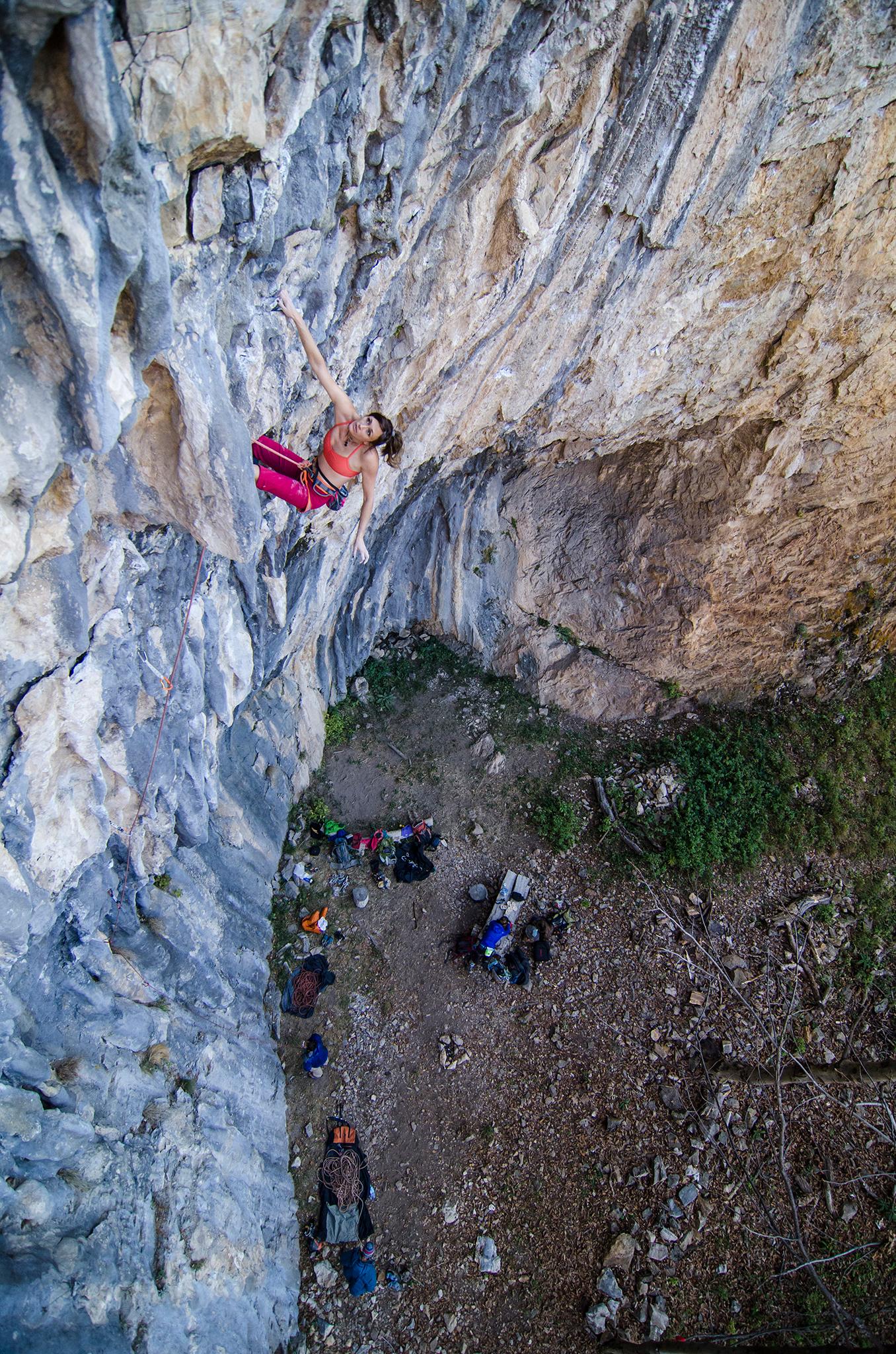Rock climbing in Bulgaria at the Ribarista crag