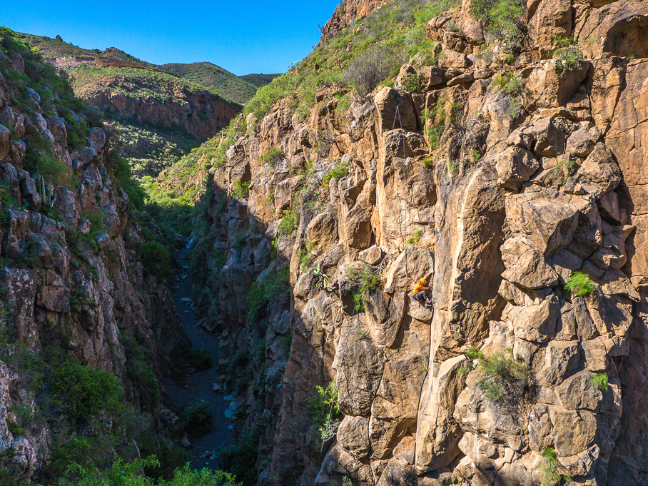 A picture of the Tamadaya crag in Tenerife