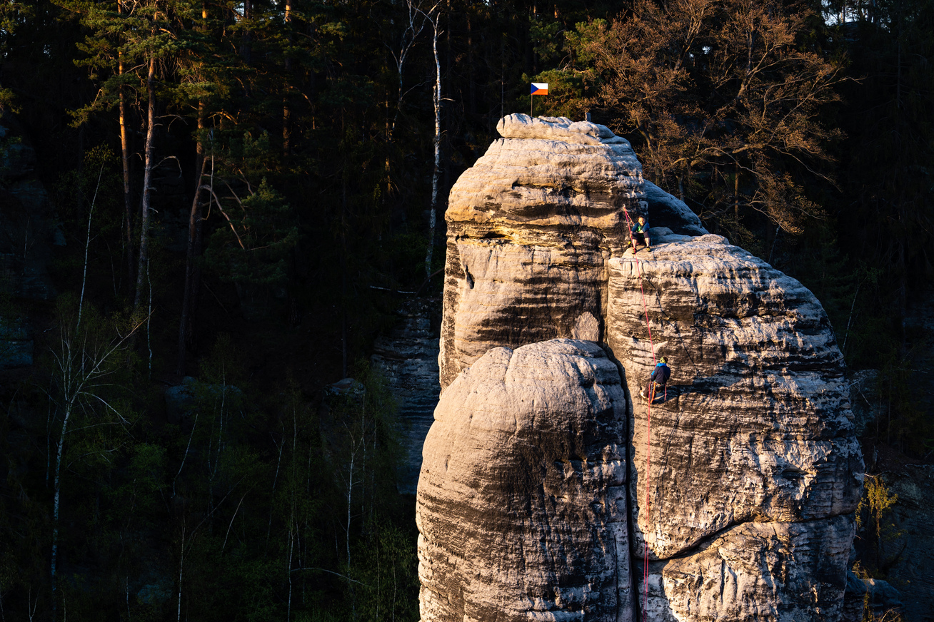 A sanstone tower in the Czech Republic