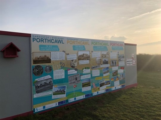 Display board of Porthcawl history