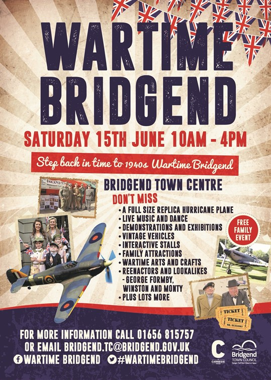 War time Bridgend Poster