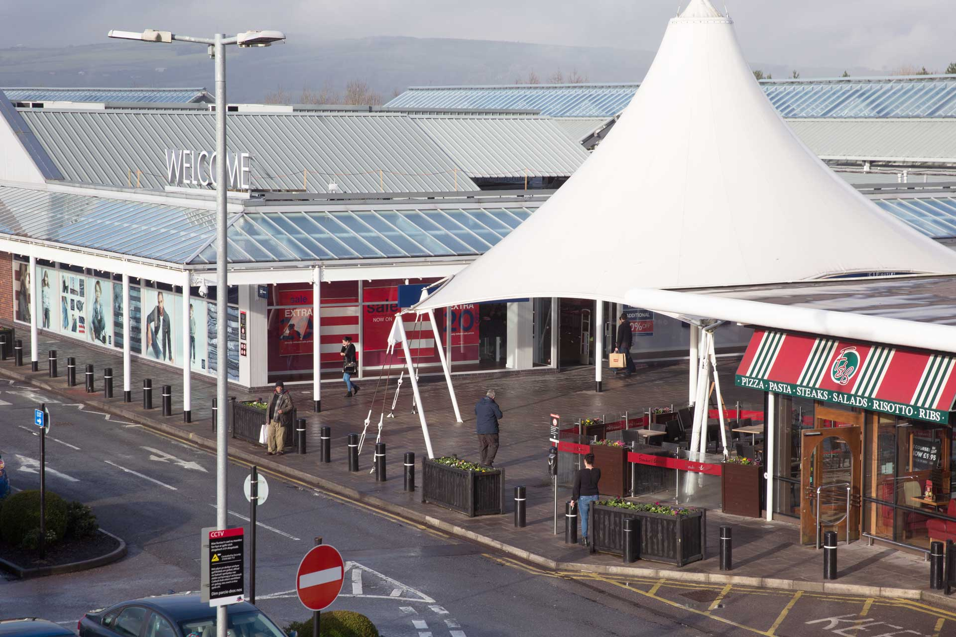 The restaurant entrance at Bridgend Designer Outlet