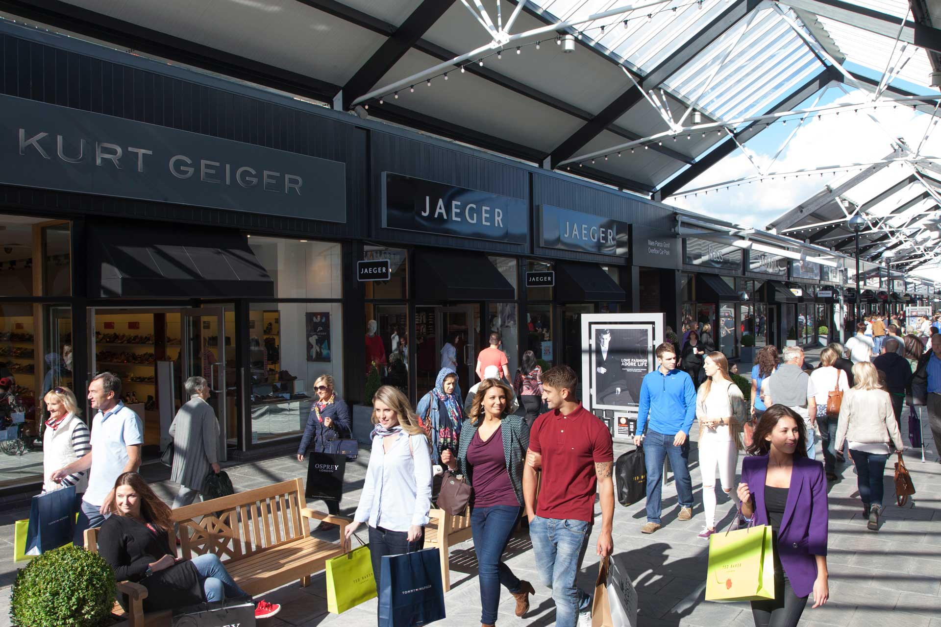 A busy day shopping at Bridgend Designer Outlet