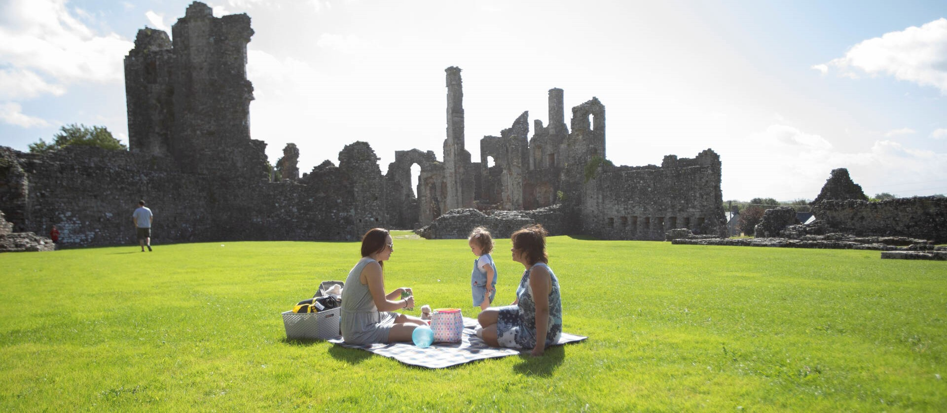 Picnic at Coity Castle