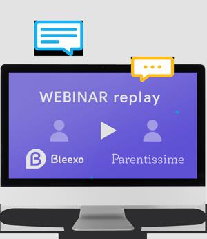 Visuel Webinar Bleexo avec Parentissime