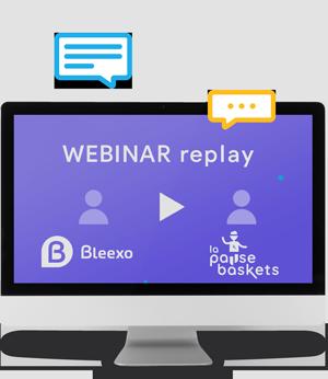 Visuel Webinar Bleexo avec La Pause Baskets