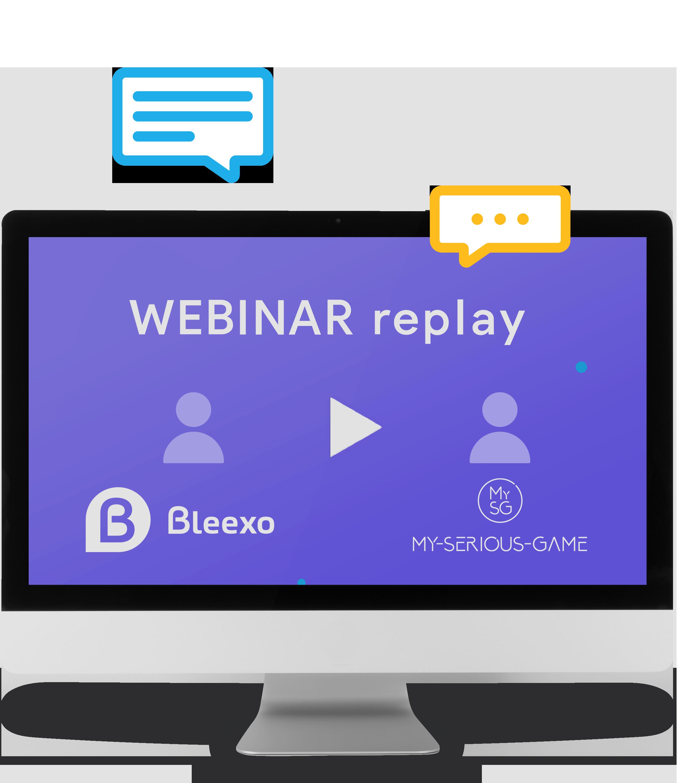 Visuel Webinar Bleexo avec My-Serious-Game