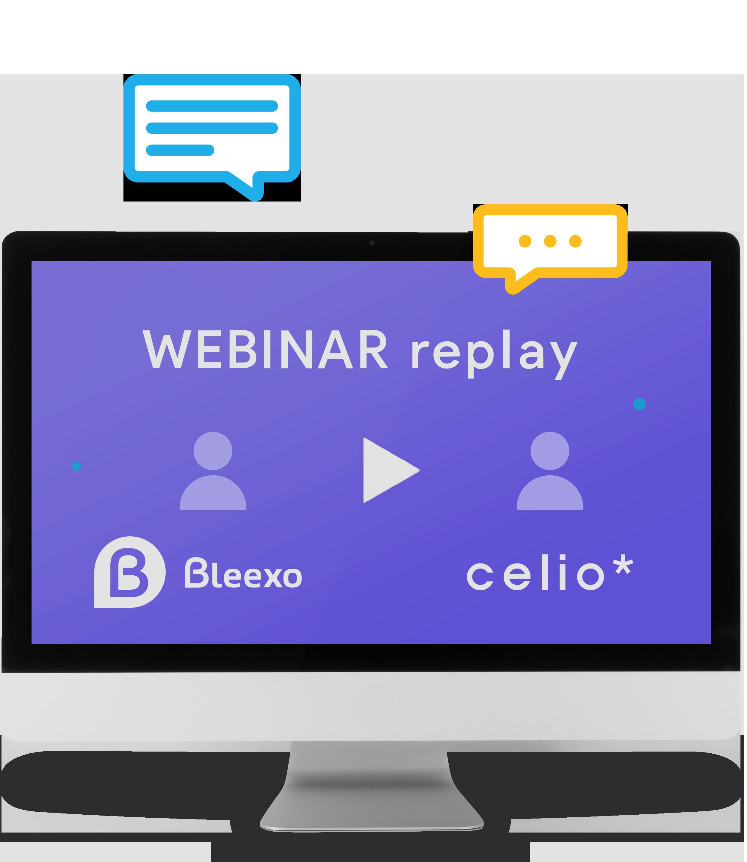 Visuel Webinar Bleexo avec Celio France