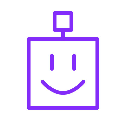 happy robot icon