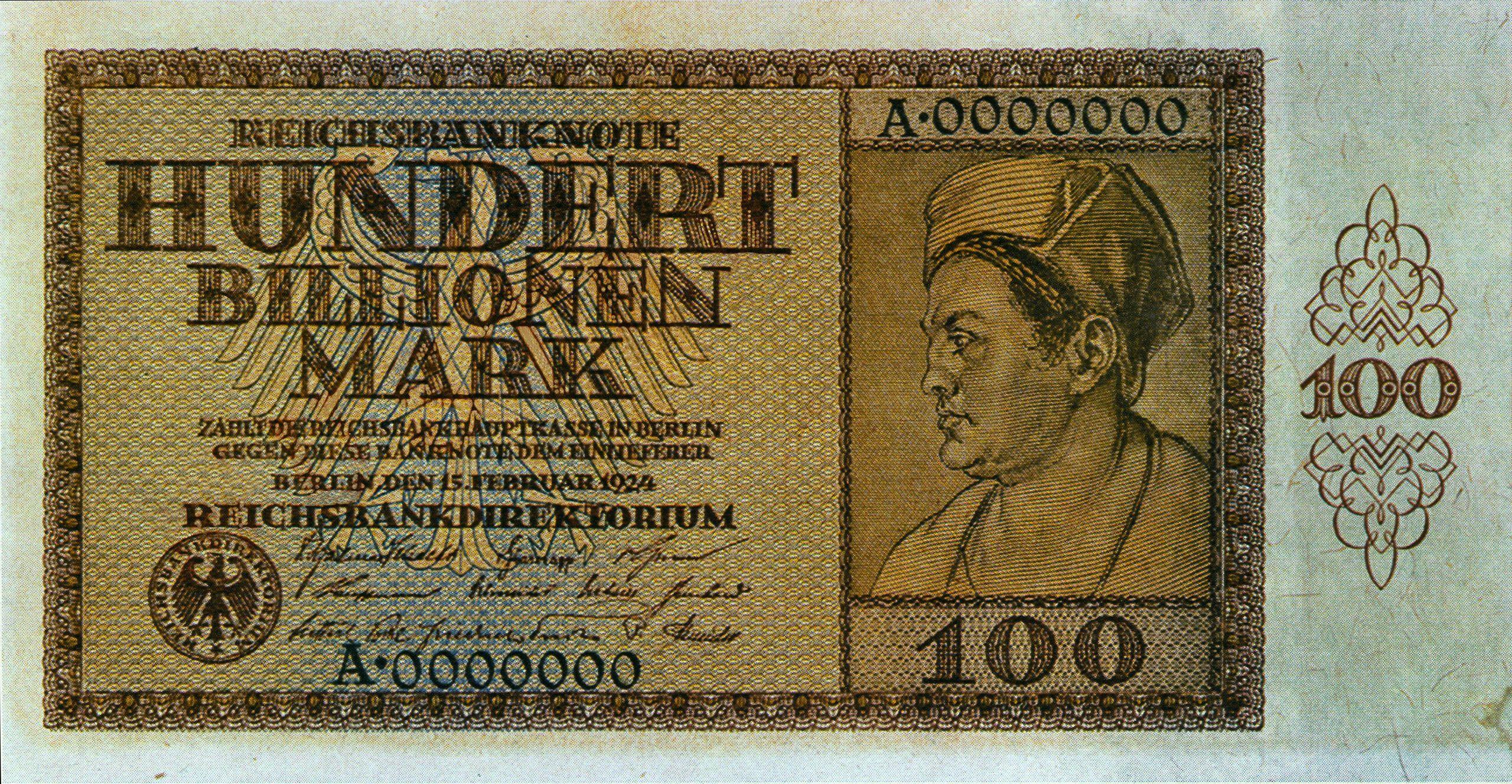 Banknot - 100 bilionów marek