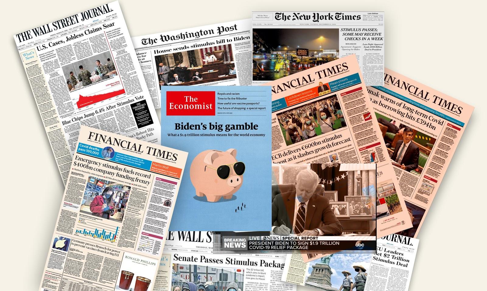 Renomowane gazety odnoszące się do o Quantitative Easing / Stimulus (czyt. dodruk pieniędzy)