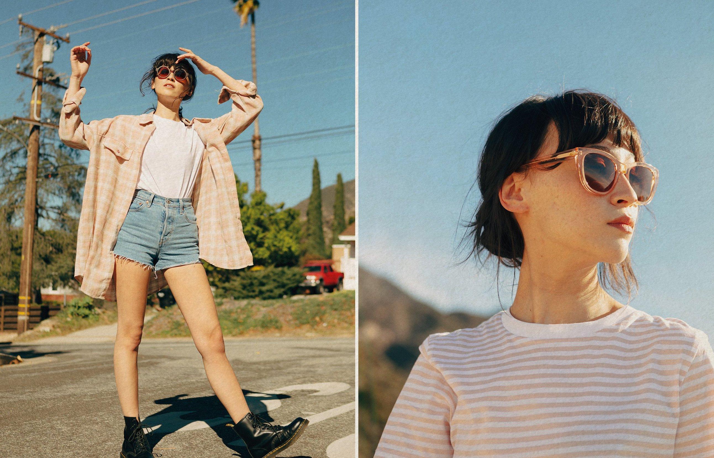 Women wearing Ten's original sunglasses