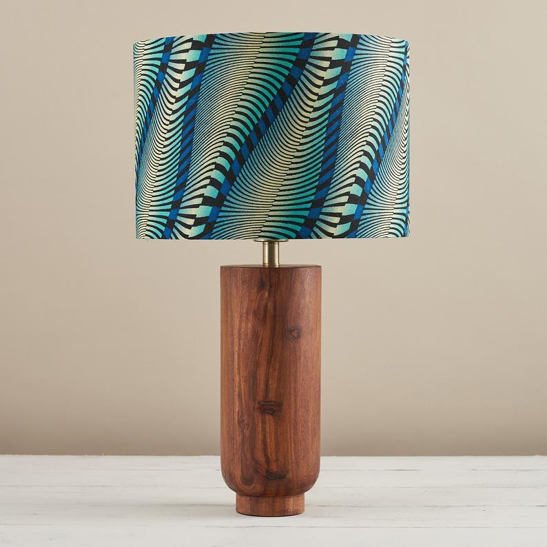 Wax Print Drum Lampshade