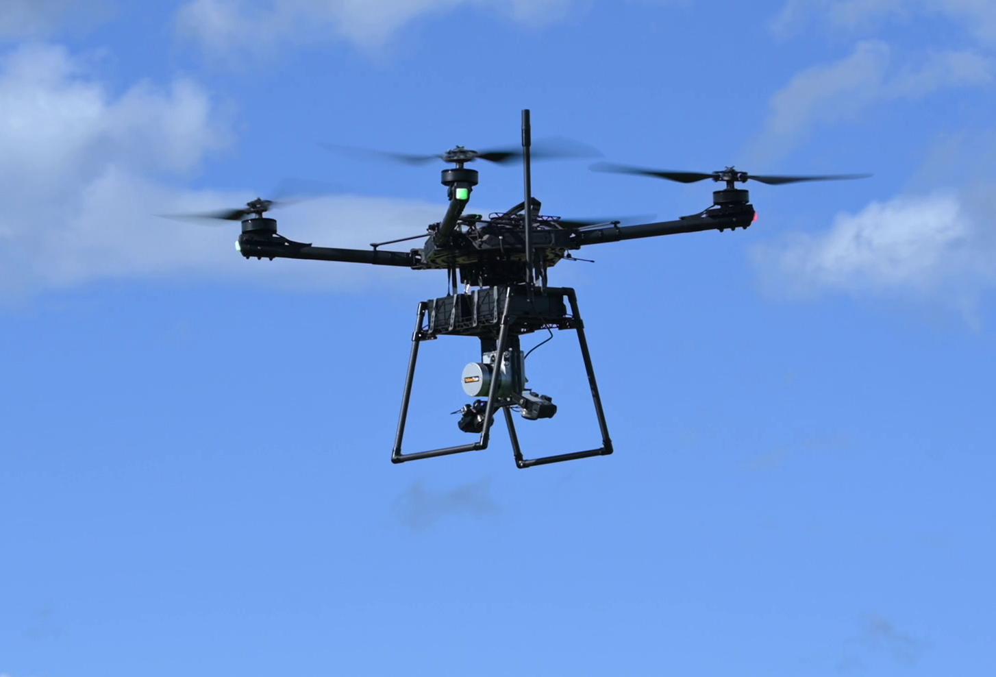 LiDAR system integration on freefly drone