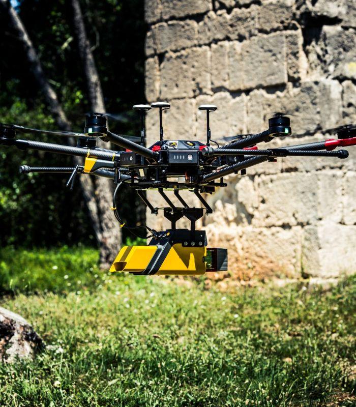 LiDAR avec drone