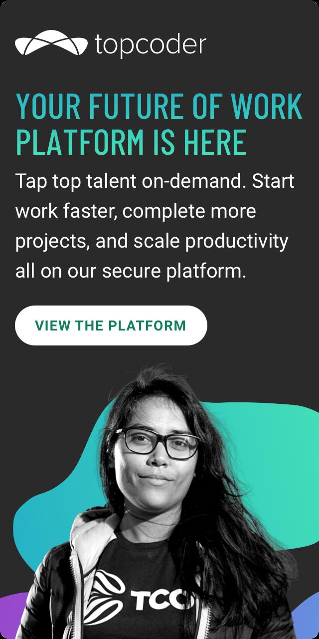 Topcoder platform ad