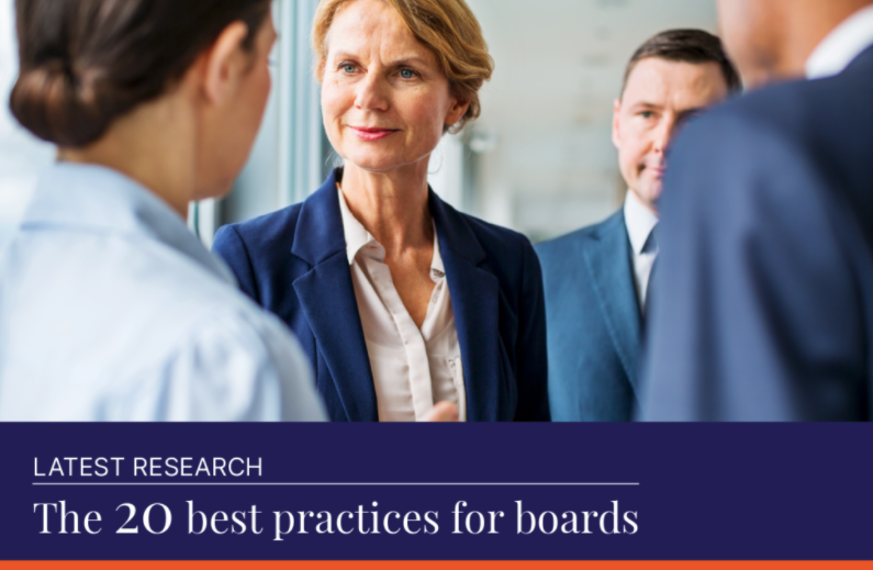 20 best practices for boards