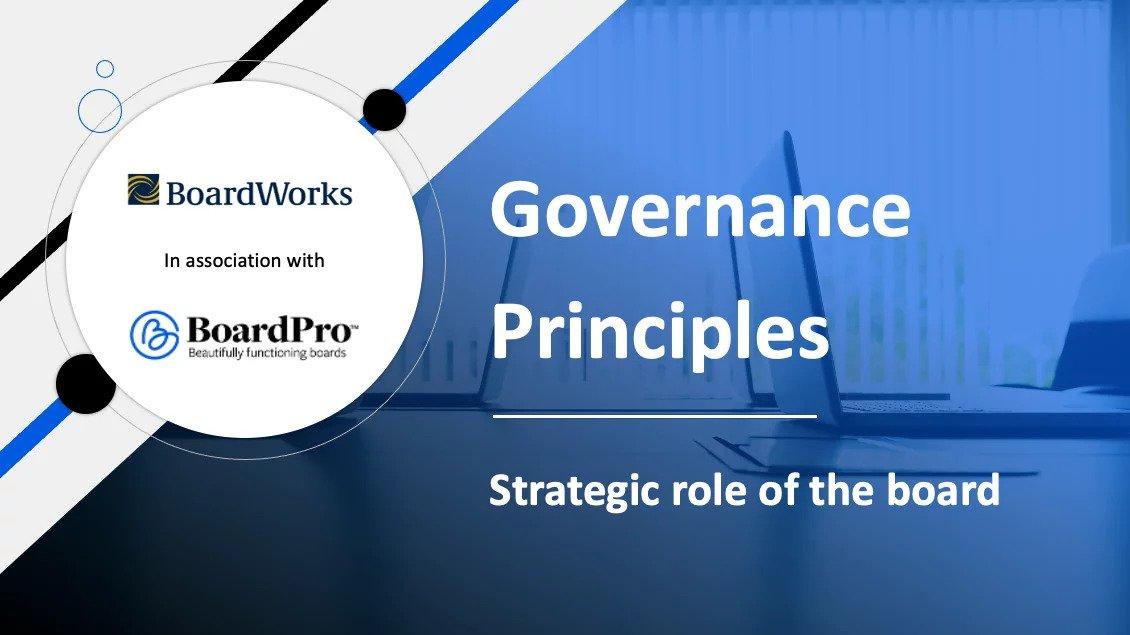 Strategic role of the board
