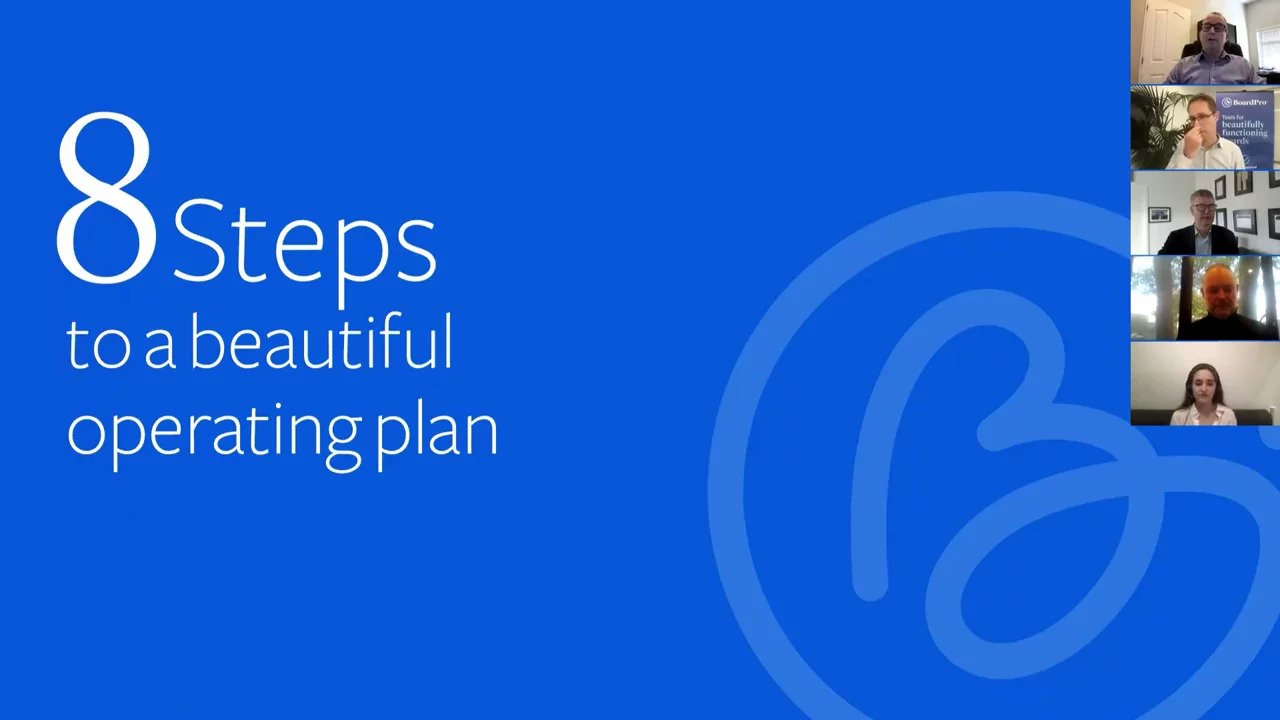 8 Steps to a Beautiful Annual Operating Plan