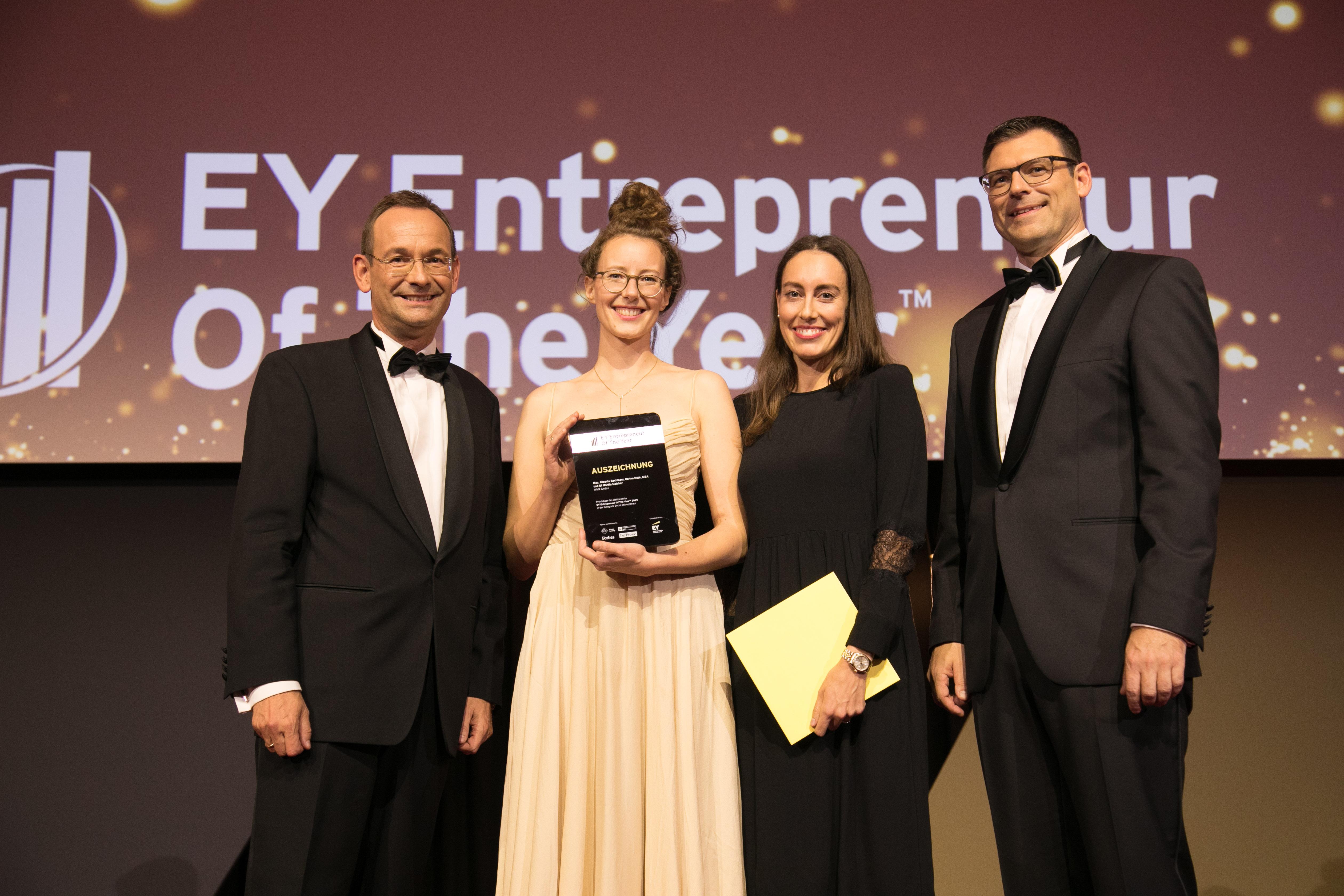 WisR erhält Auszeichnung bei EY Entrepreneur of the Year Award