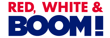 Red, White & BOOM! full color logo