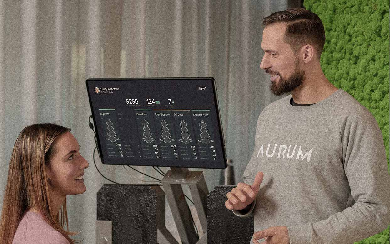 AURUM isokinetic Biofeedback technology: we use data-driven software for the safest and most effective workout ever