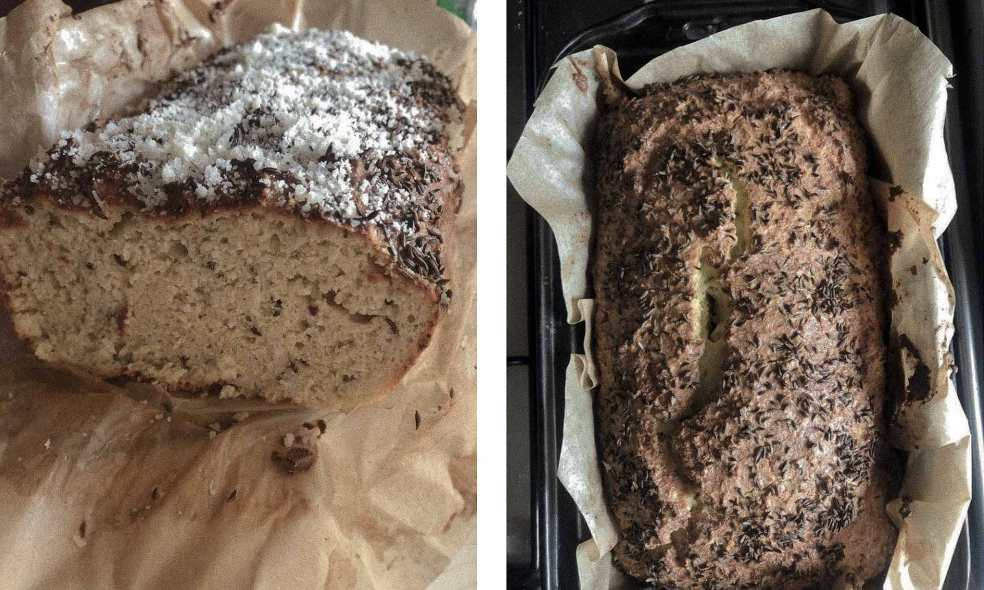 Low carb bread made of cauliflower and almond flour
