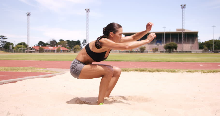 Landing of an athlete, the muscle has to apply eccentric braking force
