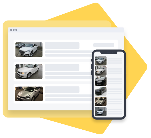 Screenshot of CarOnSale as a sales platform for dealership vehicles