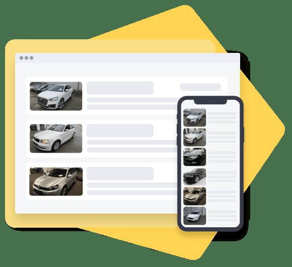 Screenshot of CarOnSale as a sales platform for dealership vehicles