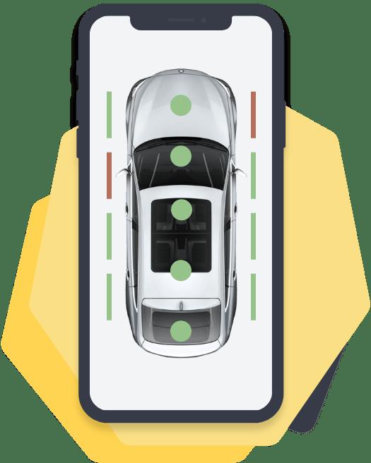 Beschreibung eines Unfallfahrzeug