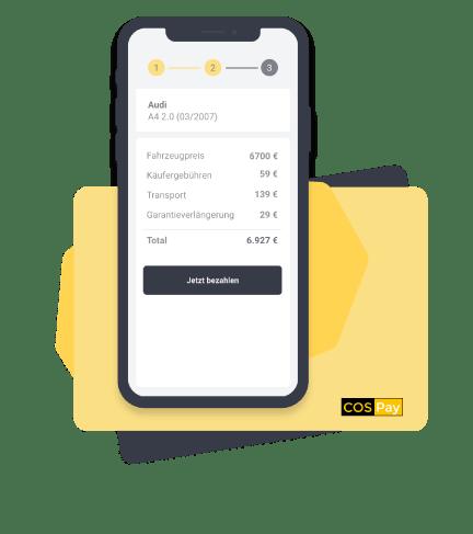 COSPay Zahlungsabwicklung für Gebrauchtwagen