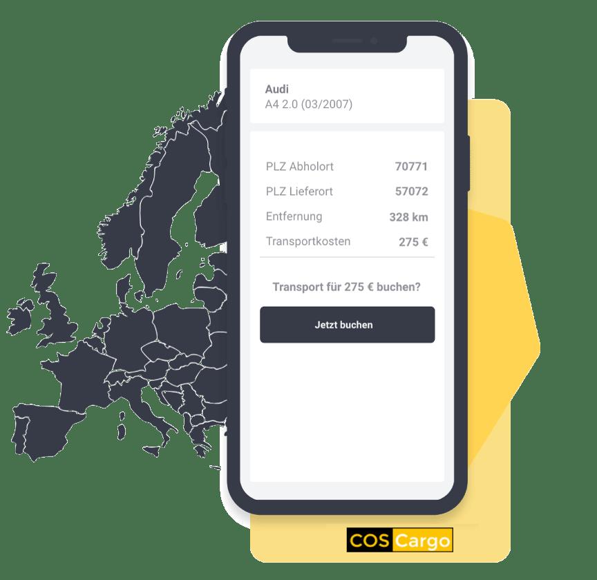 COSCargo Transport von Händlerfahrzeugen