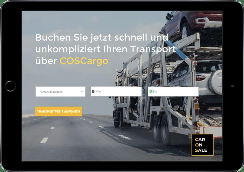 Screenshot von CarOnSale als Verkaufsplattform für Unfallfahrzeuge
