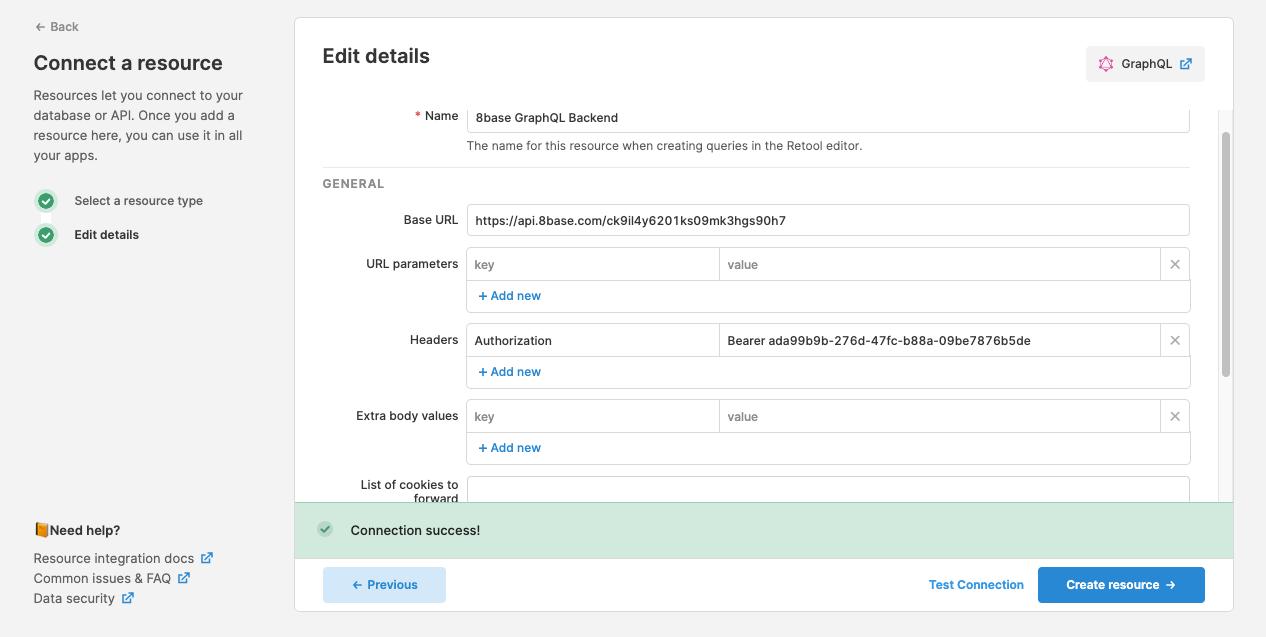 Create Retool GraphQL resource for custom CRM