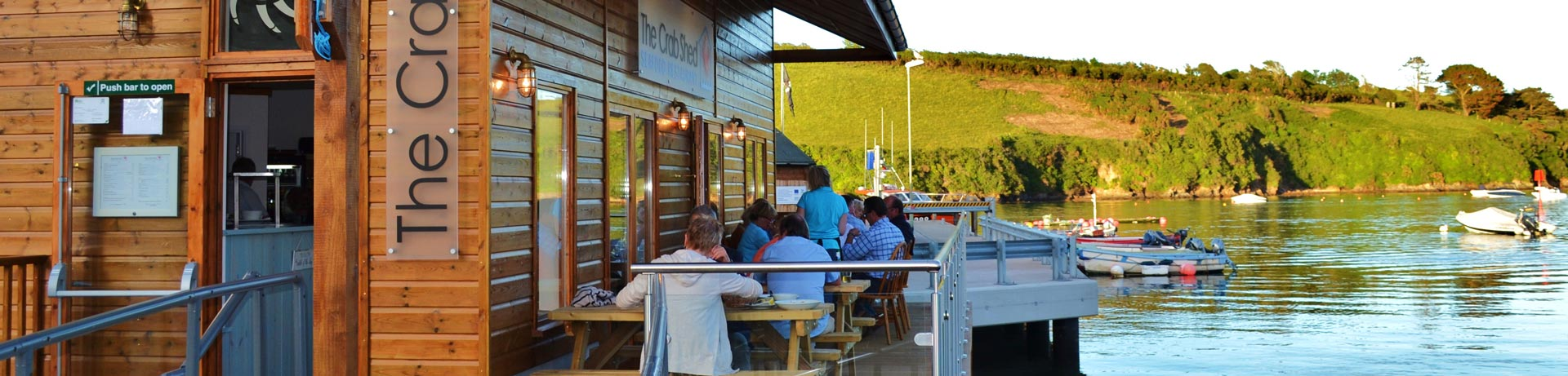 Crab Shed Salcombe for seafood dining with great views over Salcombe harbour