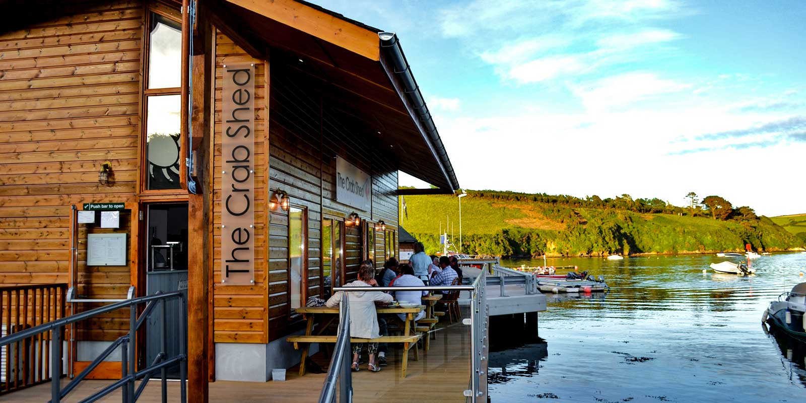 Crab Shed Salcombe - quayside seafood restaurant at the Fish Quay, Salcombe Harbour