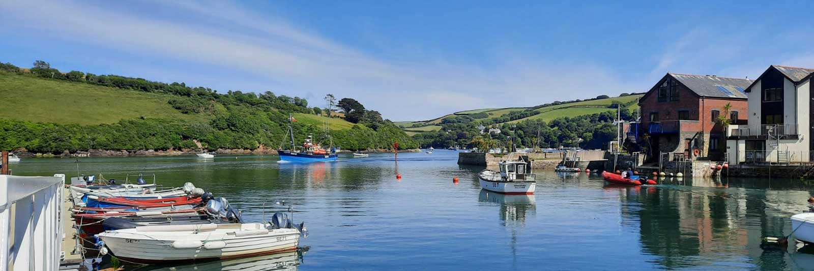 Salcombe harbour, seen from the CrabShed