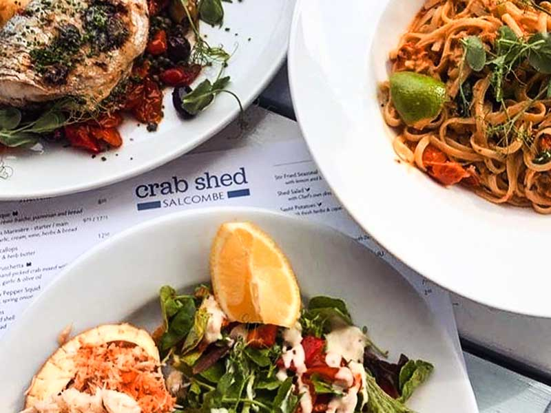 The Crab Shed Salcombe - our own Salcombe crab and the best local, seasonal fish and shellfish
