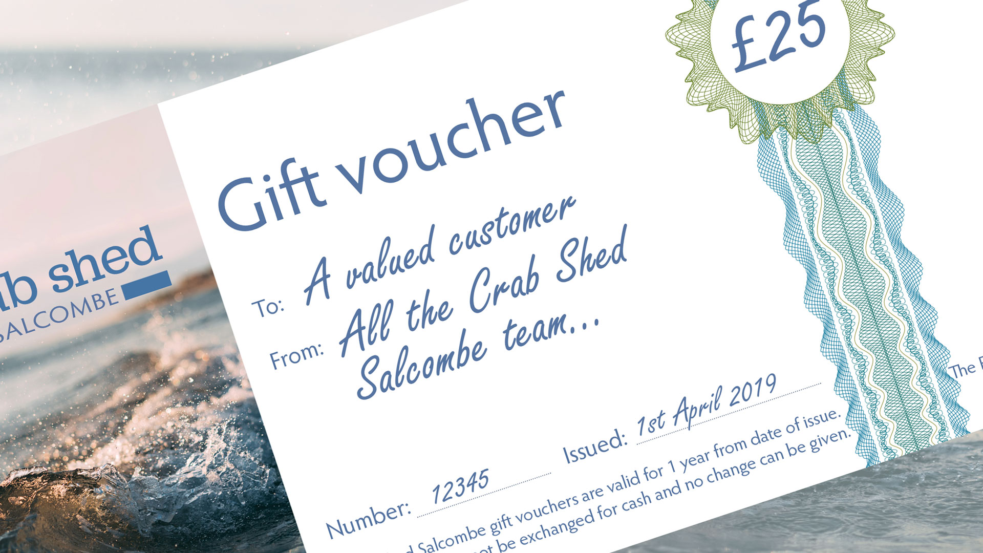 Gift vouchers from Crab Shed Salcombe
