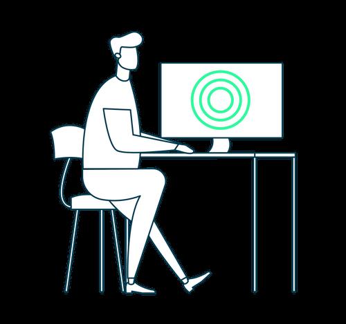 IVRMC Setup - person at computer