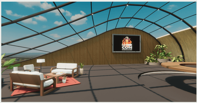 Example custom immersive VR meeting, event or conference space