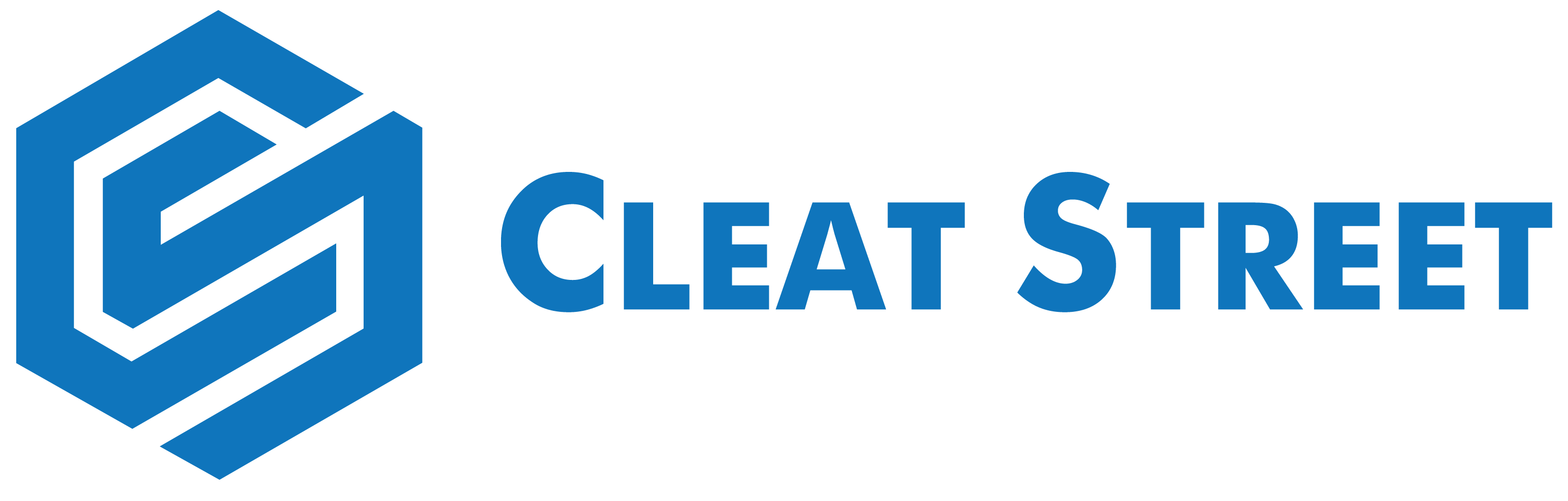Cleat Street Logo: Words Cleat Street and letters C and S incorporated together in circle form