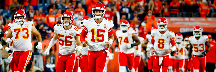 Kansas City Chiefs team lined up running onto NFL field for Week 10 games