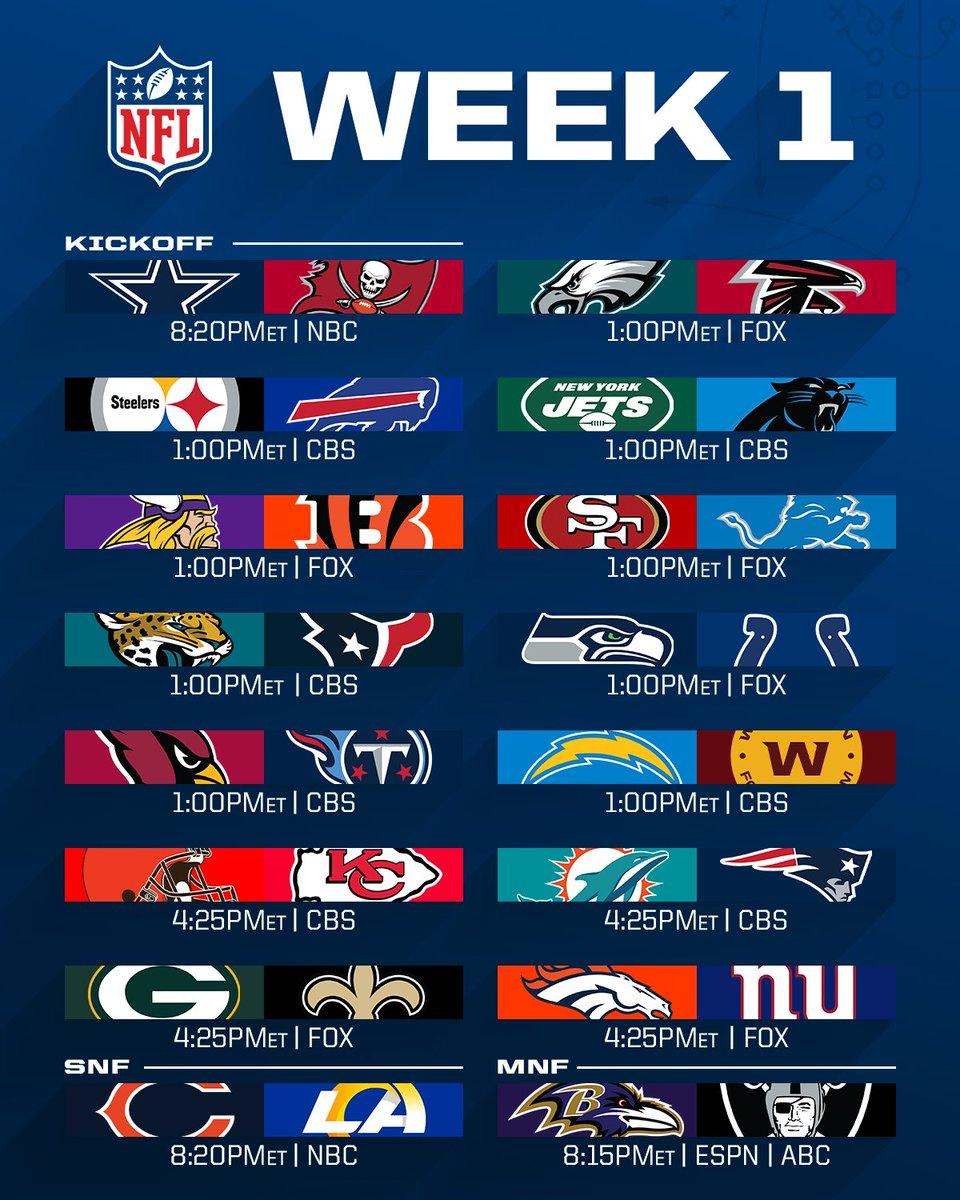 NFL Week 1 Schedule