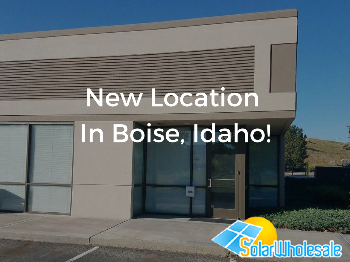 Solar Wholesale new Boise location announcement