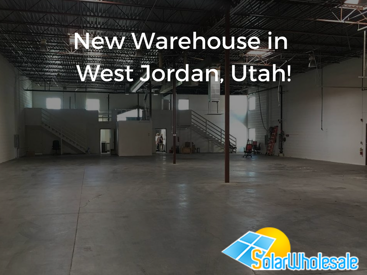 Solar Wholesale new warehouse in West Jordan, Utah