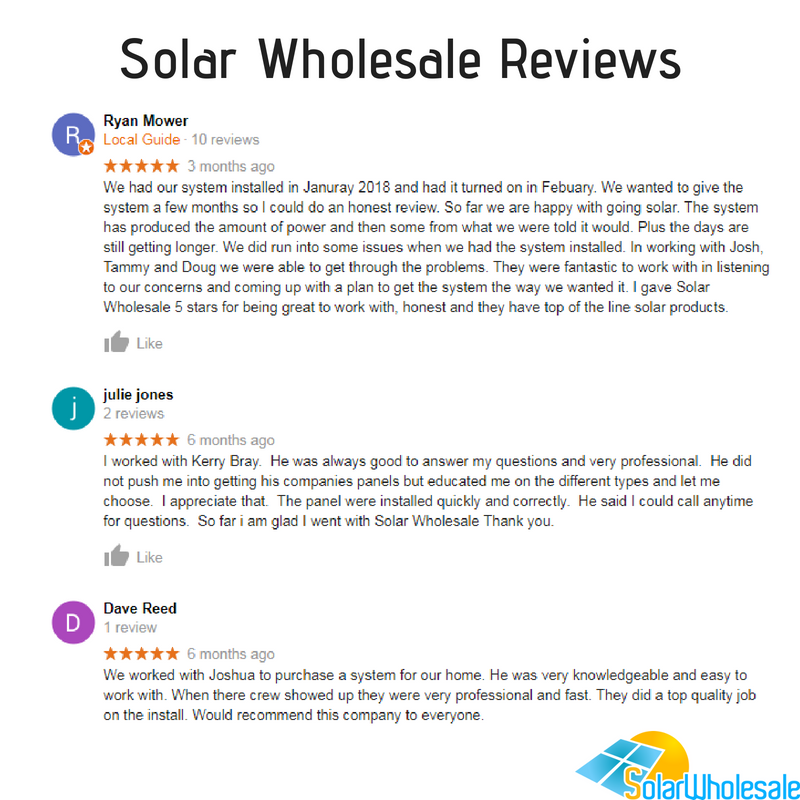 Solar Wholesale Reviews